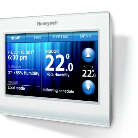 Wi-Fi 9000 Colour Touchscreen Thermostat controller for hydronic heating systems, Yarraville & Melbourne